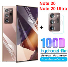 For Samsung Galaxy Note 20 Ultra Camera+Front+Back Hydrogel Film Screen Protecto