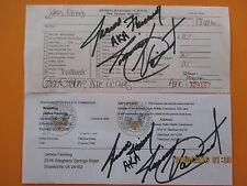WWE Hall Of Famer Handsome Jimmy Boogie Valiant 2016 Signed Pro Wrestling Lice