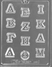 GREEK LETTERS A THROUGH M CHOCOLATE CANDY MOLD DIY FRATERNITY PARTY FAVORS