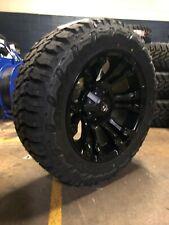 20x10 Fuel D560 Vapor 33 Mt Wheel & Tire Package 6x5.5 2019 Chevy Silverado 1500