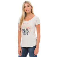 Animal NEW Oceanica Deluxe cream graphic print t shirt top BNWT £25 sizes 8-16