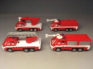 Autos Plastikautos Feuerwehr 4x Feuerwehrautos (ca. 1:160)