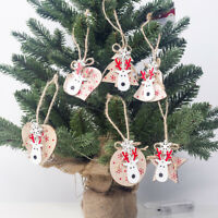 EE_ 3Pcs Christmas Tree Xmas Hanging Ornament Star Deer Pendant Party Decoration
