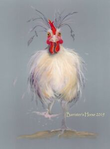 HEN PARTY, PASTEL, FINE ART/GICLEE PRINT, WALL ART, PAINTING, CHICKEN PICTURE