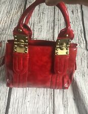 Dune Patent Red Leather Handbag Hardly Used