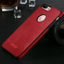 For iPhone 7 Plus 6s 5s Luxury Slim Genuine PU Leather Soft TPU Back Case Cover
