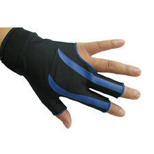 NEW Blue 3-Finger Billiard Gloves Snooker Pool Glove Left Hand Snooker cue