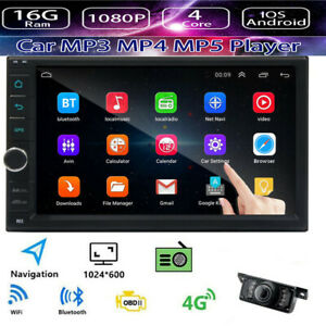 """7"""" 2 Din Android bluetooth Car MP5 Player FM Stereo Radio GPS WiFi Quad Core"""