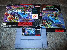 Teenage Mutant Ninja Turtles IV Turtles in Time Super Nintendo SNES COMPLETE CiB