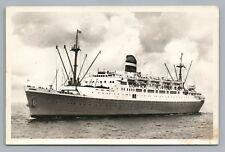 SS Ryndam—Holland America Line RPPC Vintage Steamer Photo—Dutch Boot ~1950s