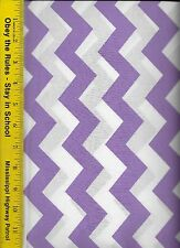 """QUILT FABRIC: 100% COTTON, LILAC 1"""" CHEVRON STRIPE, By The Yard"""