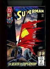 "1993 Dc Comics ,"" Superman "" # 75, 1st print, Direct Market, Nm, 67/68."