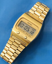 Seiko Quartz LC  1960'S Watch J0439- 5007 Rare Working Gold On Stainless Steel