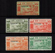New Hebrides 1938 Postage Dues - Set of 5 - SG D6/D10 - LMM