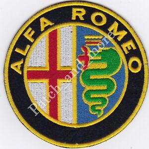 [Patch] ALFA ROMEO LOGO diametro cm 6 motori auto toppa ricamo REPLICA -1059