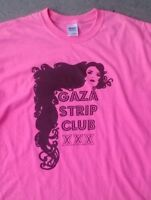 Gaza Strip Club funny vintage style t shirt Sm-5Xlg pink
