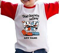 Cuphead Kids Custom Tee Shirt Video Games Logo Design Unisex Children Toddler R2