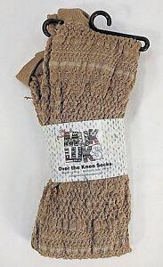 MUK LUKS womens light brown/tan Over the Knee socks NWT