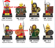 8pcs/set minifigure  Medieval Roman Knight Commander lego moc