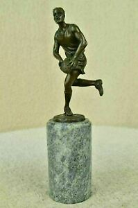 World Cup Rugby Football Player Tournament Trophy Bronze Marble Statue Art Gift