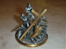 Second Station Of The Stations Of The Cross Franklin Mint Fine Pewter Sculpture