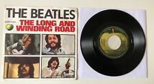 """RARE 7"""" APPLE EMI ITALY 1970 THE BEATLES THE LONG AND WINDING ROAD /FOR YOU BLUE"""