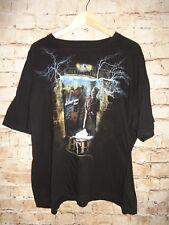 Hollywood Tower Hotel T Shirt TEE Black Disneyland Skeleton RARE! Size Below