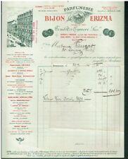 Facture Parfumerie BIJON ERIZMA Bordeaux 1931 Toulets Eymeri Succ.