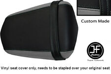 GREY AND BLACK VINYL CUSTOM FITS YAMAHA 600 YZF R6 REAR SEAT COVER ONLY 03-05