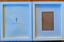 Pottery Barn Set of 2  Wood Gallery 11x9  Modern White photo picture frame Glass