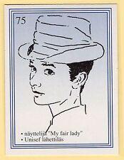 1990s Finnish Film Star Card  Fame Alias #75 My Fair Lady Actress Audrey Hebpurn