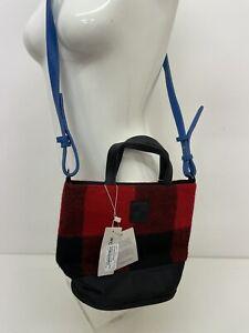 Woolrich John Rich & Sons Bucket Bag Wool Parka Red Tartan Check - BNWT A89