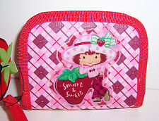 """STRAWBERRY SHORTCAKE """"Smart & Sweet"""" Red/Pink Zippered WALLET COIN PURSE NEW!!"""