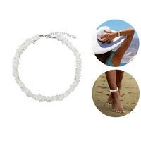 "White Hawaiian 18"" Chipped Puka Sea Shell Necklace Surfer Choker Shell Necklace"