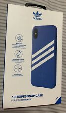 Adidas 3-Stripes Snap Case for iPhone X / XS - Blue / White