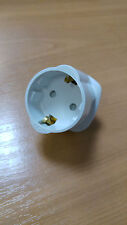 WHITE Brennenstuhl Travel Plug EU to UK Earthed Adapter - 13A Fused Reisestecker