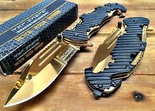 Tac-Force Special Forces Speedster tac pocket knife with seat belt cutter - GOLD