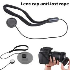2 x Camera Lens Cap Keeper Holder Strap Cord Lanyard String Leash Rope Black