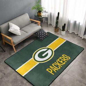 Green Bay Packers Rugs Anti-Skid Area Rug Living Room Bedroom Floor Mat Carpet