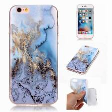 Glossy Soft Back Granite Marble Effect Case Cover For Apple iPhone X 8 6S 7 Plus