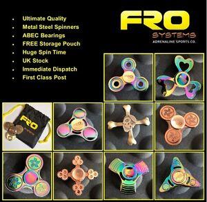 Metal Fidget Finger Spinner - UK SELLER - Toy, Kids-
