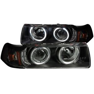 ANZO PROJECTOR HEADLIGHTS G2 HALOS BLACK 1PC FOR 92-98 BMW 3 SERIES E36 4DR