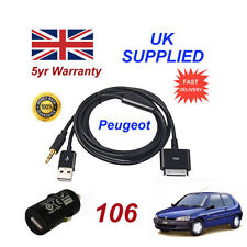 Cables de interfaz y entrada auxiliar para coches Peugeot