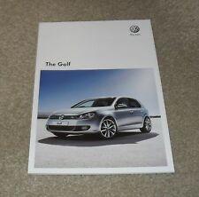 Volkswagen VW Golf Mk6 brochure 2010 GTD GTI 1.2 1.4 TSI match R 2.0 GT TDi 140