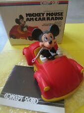 disney mickey mouse am car radio concept 2000 vintage original box