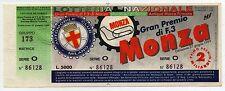 RARO BIGLIETTO CON MATRICE LOTTERIA GRAN PREMIO F.3 MONZA ANNO 1999 PERFETTO
