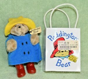 Vintage 1987 Paddington Bear Eden Toys Complete With Bag From England