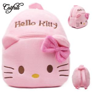 Hello Kitty Toddler Kids Children Boy Girl Cartoon Stuffed School Bag Backpack