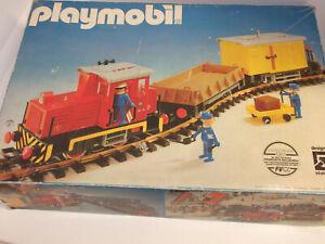 Playmobil Eisenbahn 4025 LGB Diesellok Lok Waggons Gleise 12 Schienen Peilstab