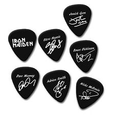 IRON MAIDEN bruce Janick Adrian Nicko signature print plectrum guitar pick picks